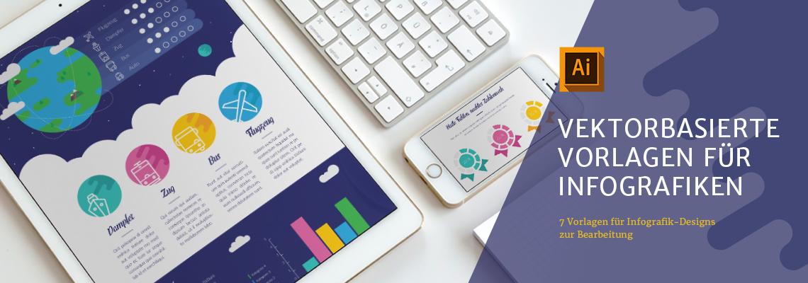 Vektorbasierte Vorlagen für Infografiken