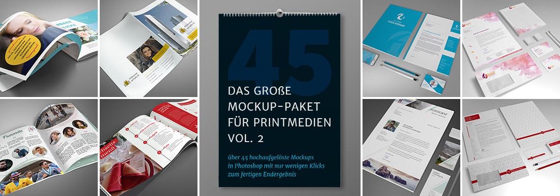 Das große Mockup-Paket für Printmedien Vol. 2