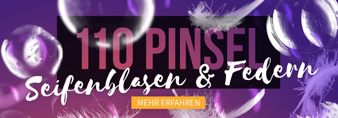 Photoshop-Pinsel: Feder-Motive und Seifenblasen-Bilder