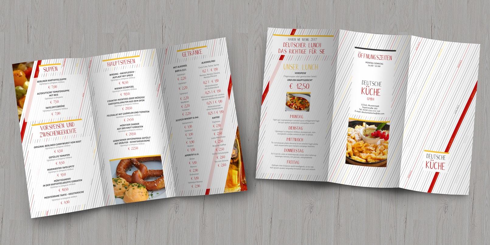 Speisekarten-Vorlagen für Designer und Gastronomen (InDesign)
