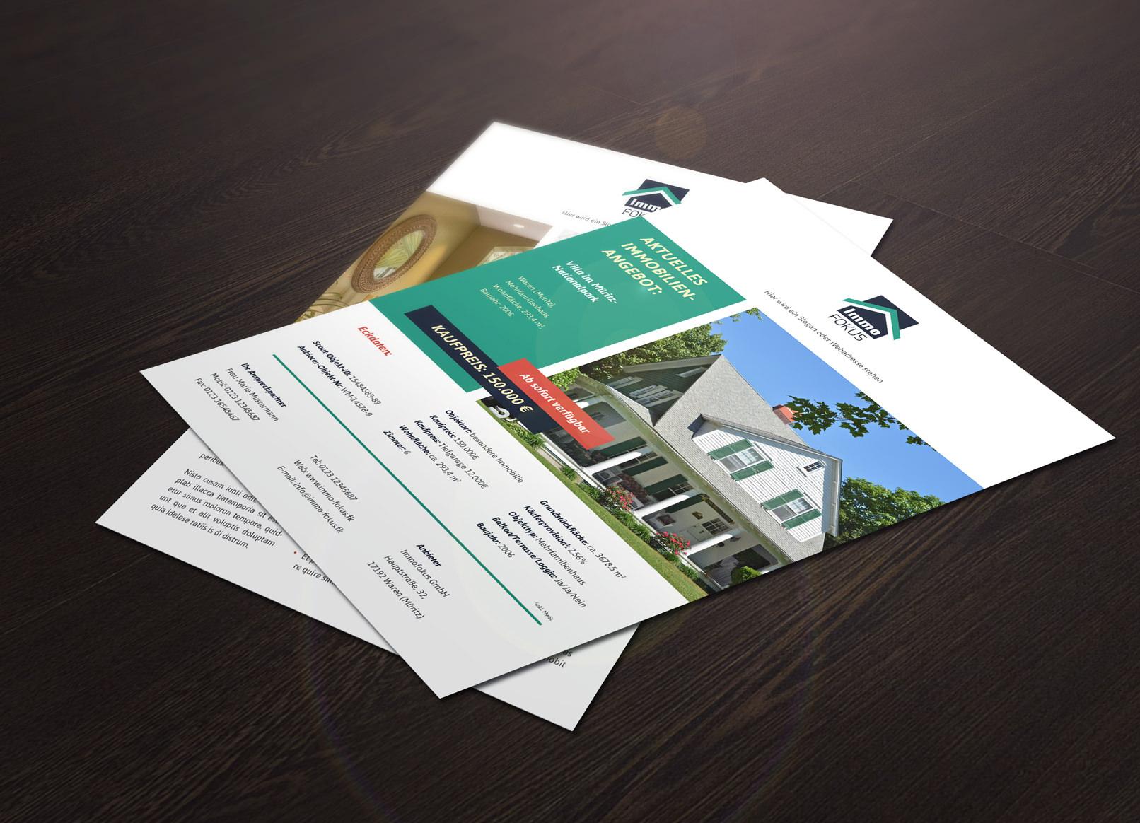 Exposé Vorlage für Immobilien als Download
