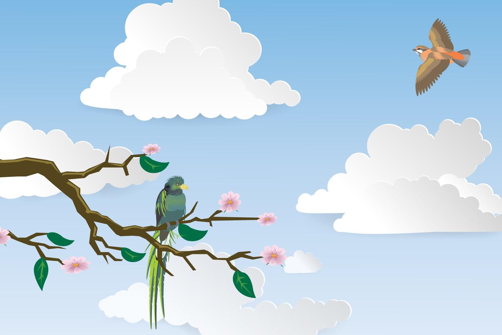 Bilder von Wolken für Photoshop, InDesign und Illustrator