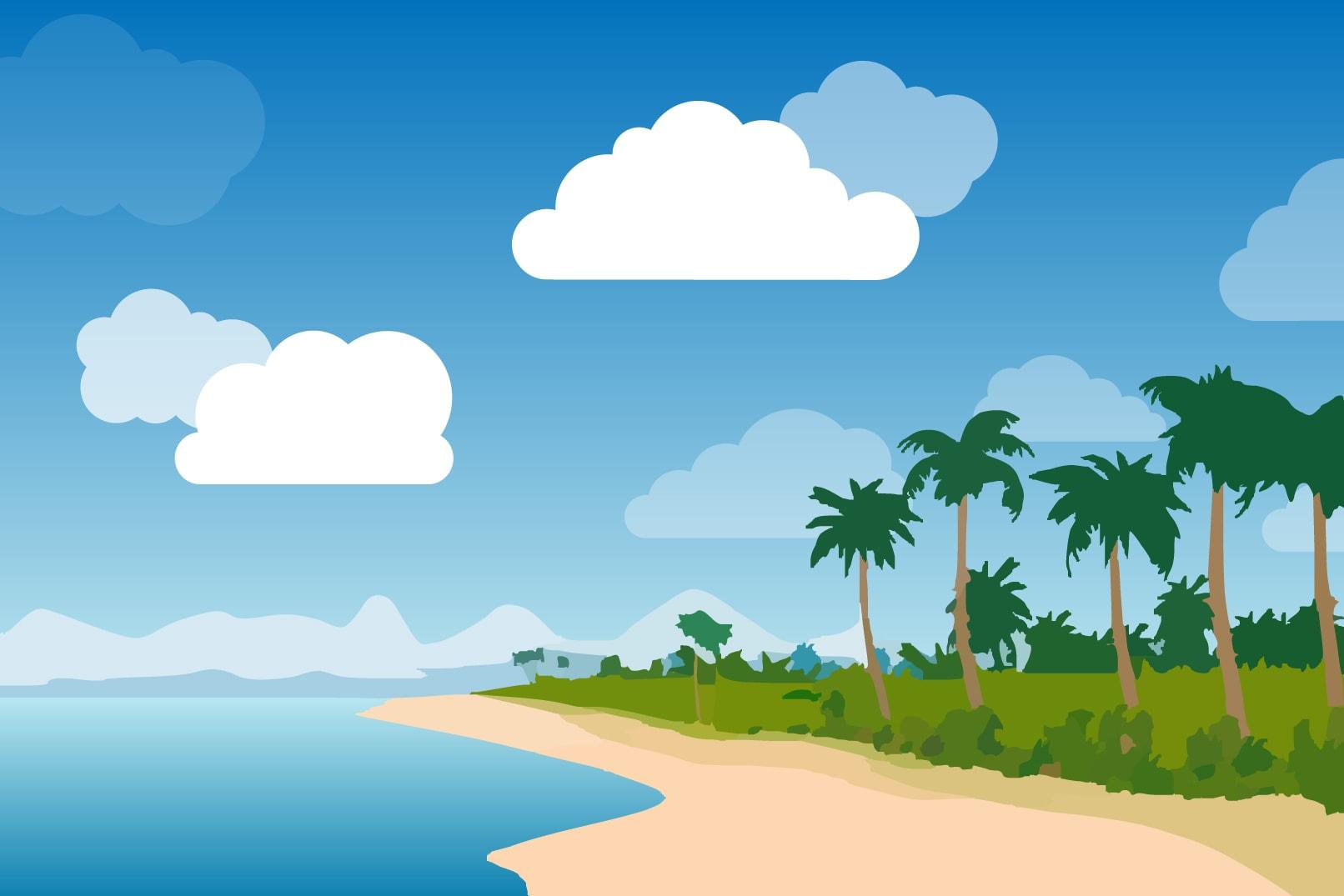 Wolken-Bilder: Pinsel für Photoshop, Vektorgrafiken für InDesign und Illustrator