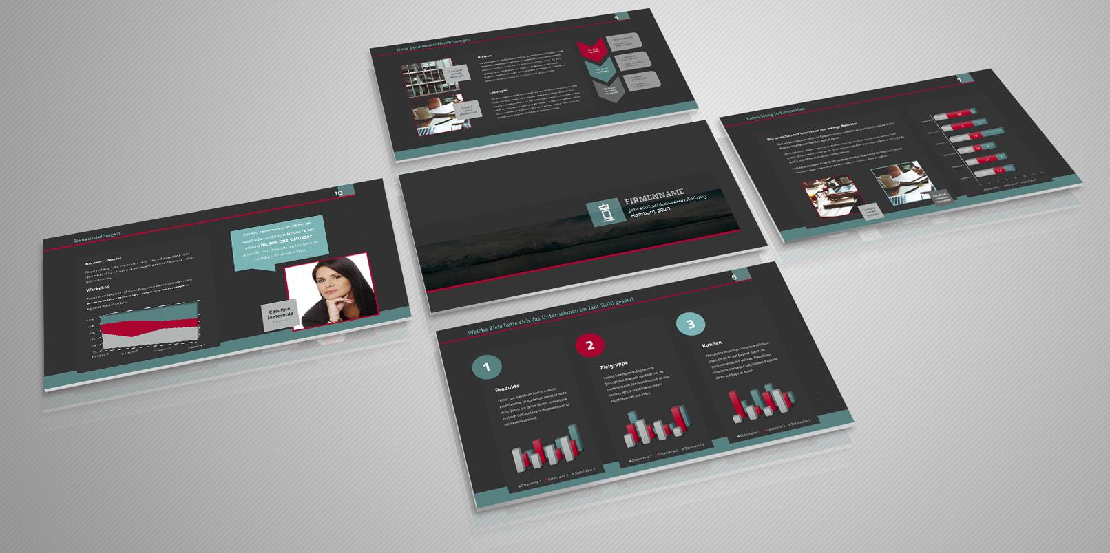 Professionelle Powerpoint-Vorlage für gelungene Präsentationen