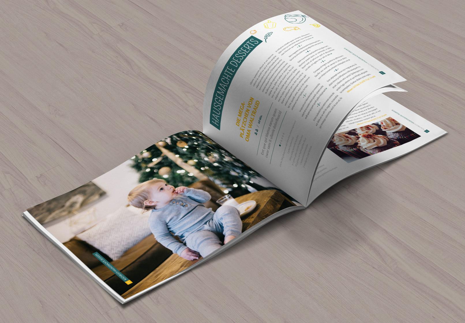 Rezept- und Kochbuch: Design-Vorlagen & Layouts für InDesign & Co