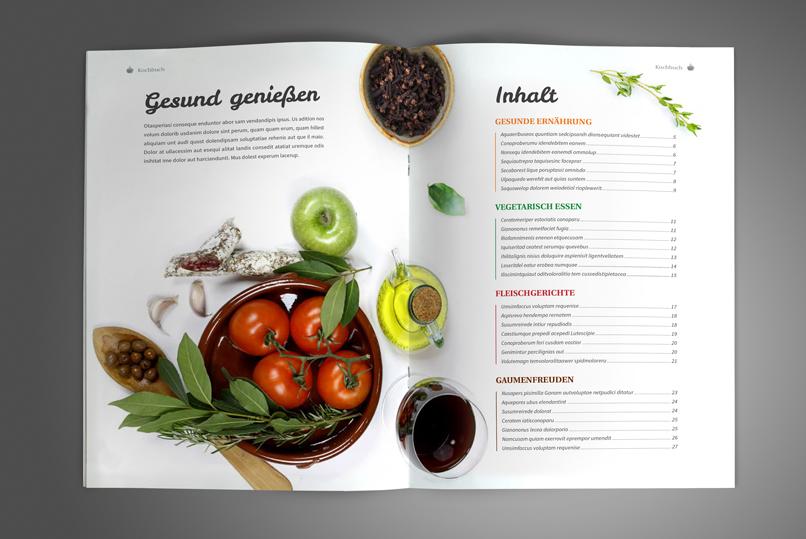 Kochbuch und Rezeptbuch Vorlage – Designs & Layouts für InDesign
