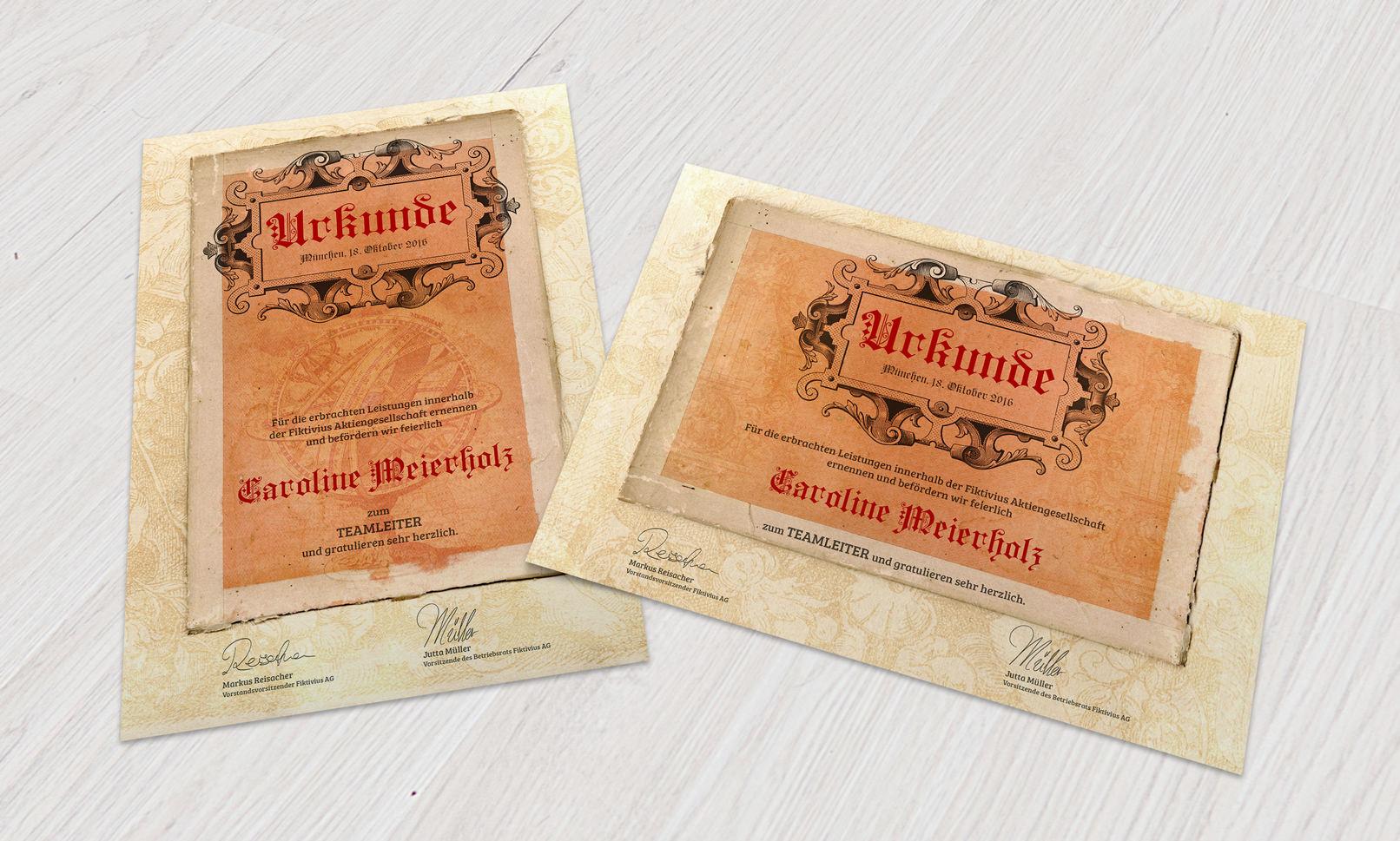 Vorlagen für Historische Urkunden und Zertifikate für Word und Co zum Download