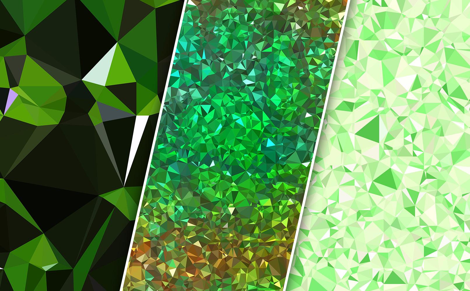 Texturen mit Polygonen in Grün
