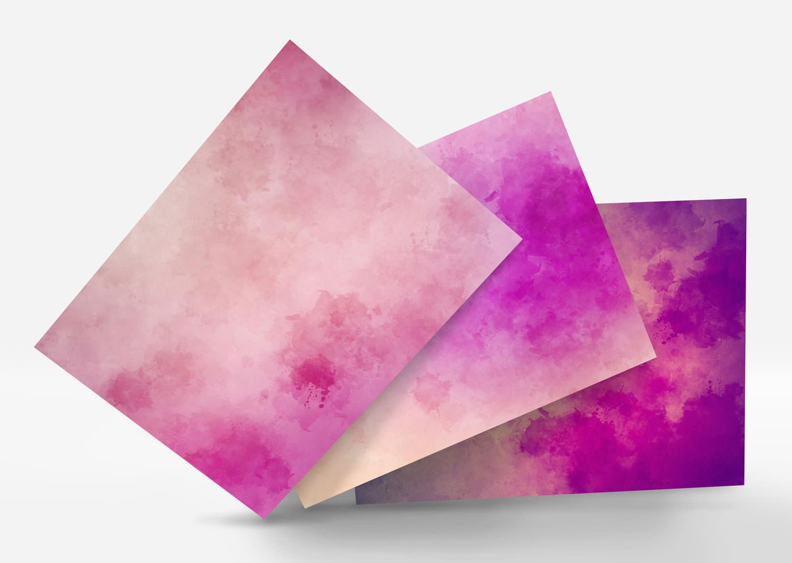 Aquarell-Hintergrund-Varianten in Rosa