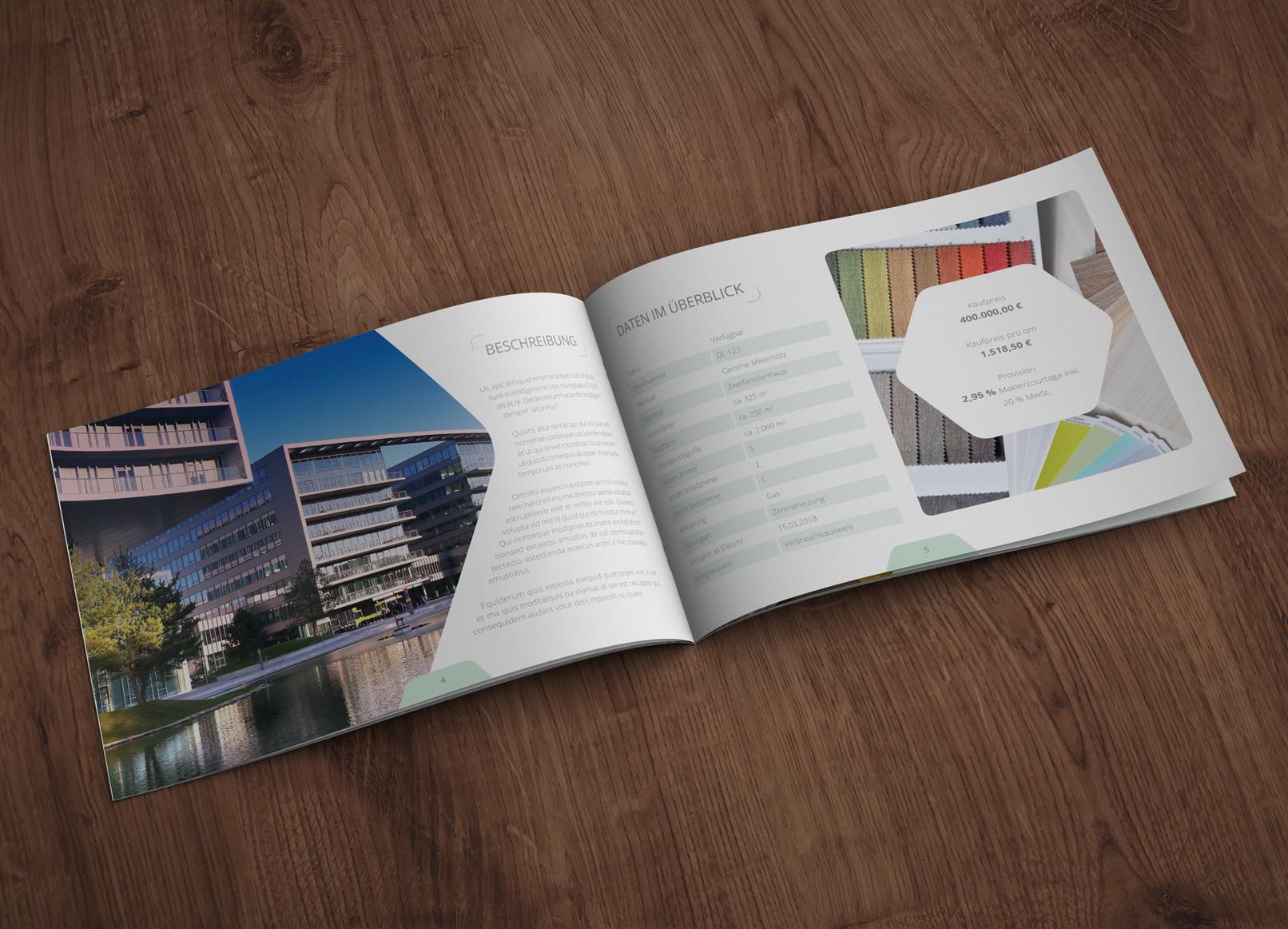 Zwölfseitige Exposé-Vorlage für Immobilie, Haus und Wohnung