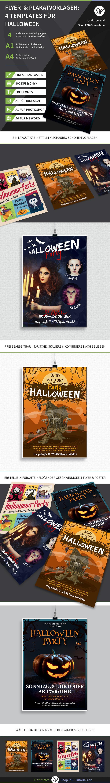 Halloween-Flyer und -Poster als Vorlagen zur schnellen Gestaltung