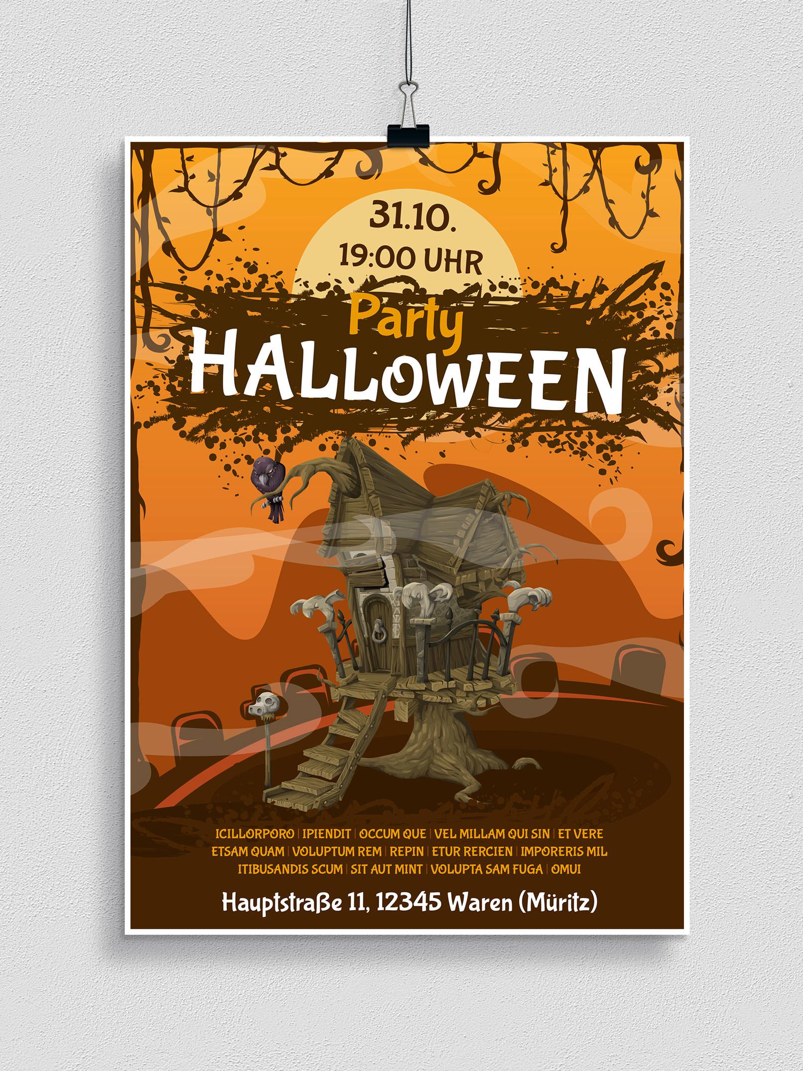 Halloween Vorlagen Für Plakat Flyer Einladung Herunterladen