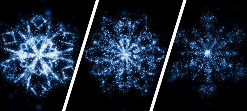 Texturen mit Schneeflocken und Schneekristalle