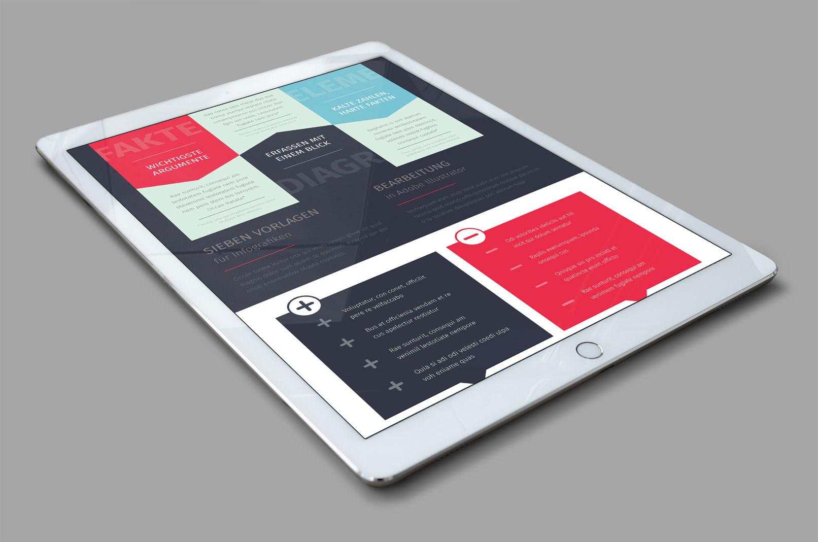 Vektorbasierte Design-Vorlagen zur Visualisierung von Daten
