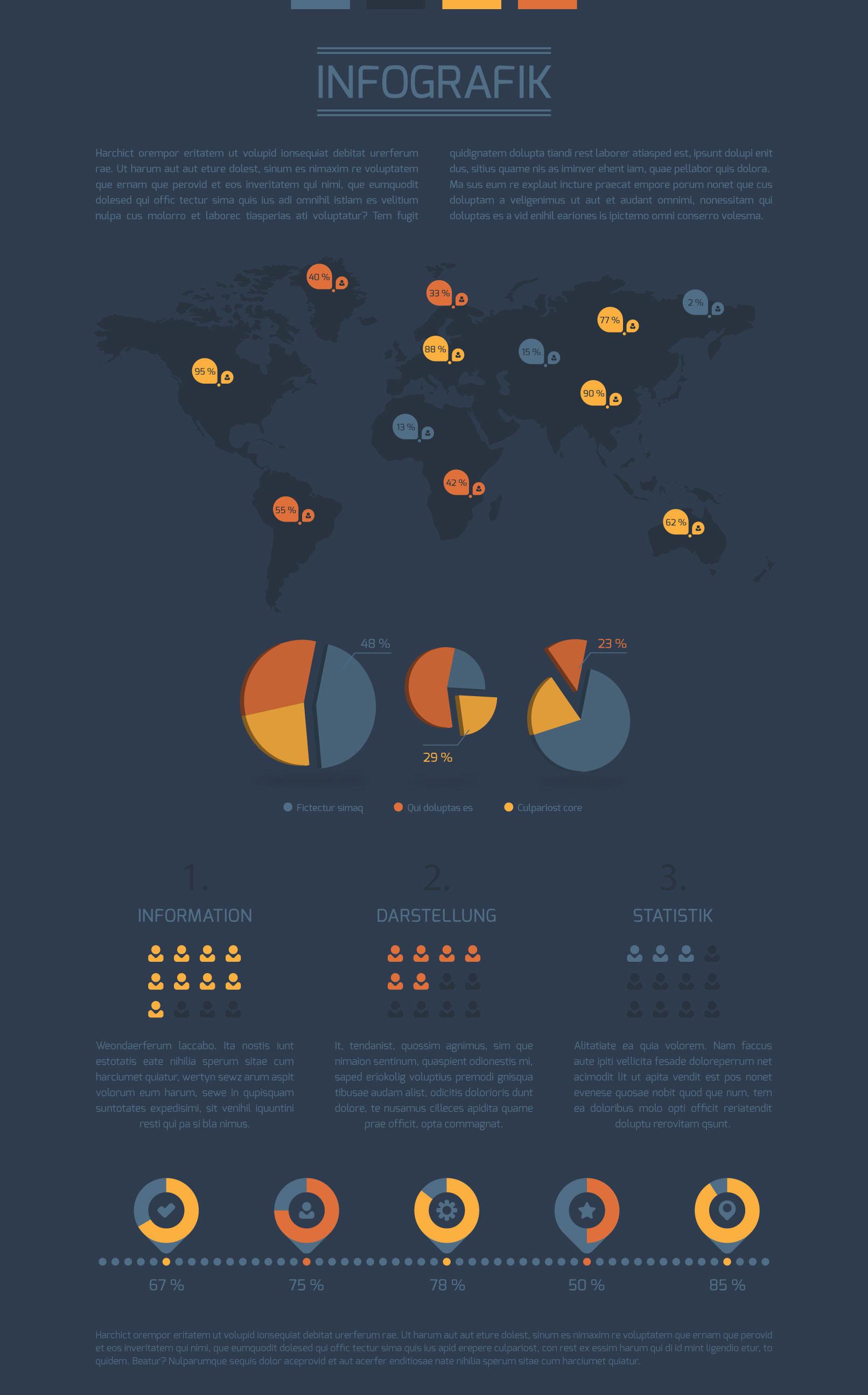 Vektorbasierte Design-Vorlage für Infografiken