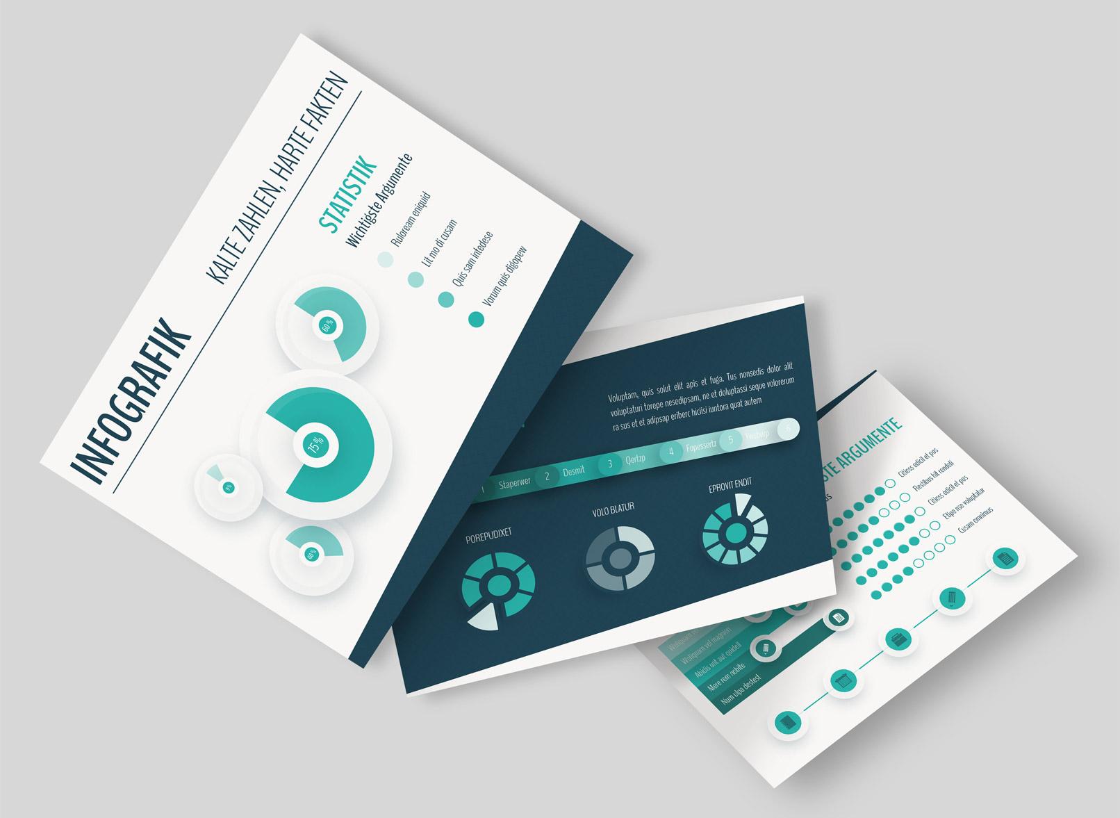Infografiken kannst du für beliebige Medien gezielt einsetzen und auch aufteilen.