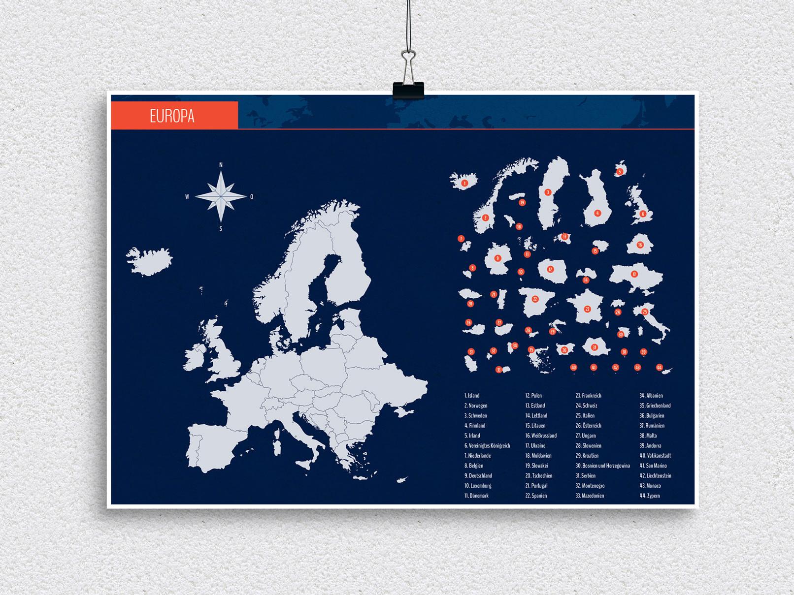 Landkarten Europa als Vektor zum Download