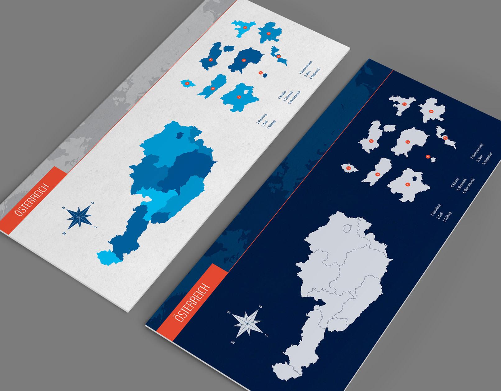 Vektorbasierte Landkarten: Österreich (Beispiel)