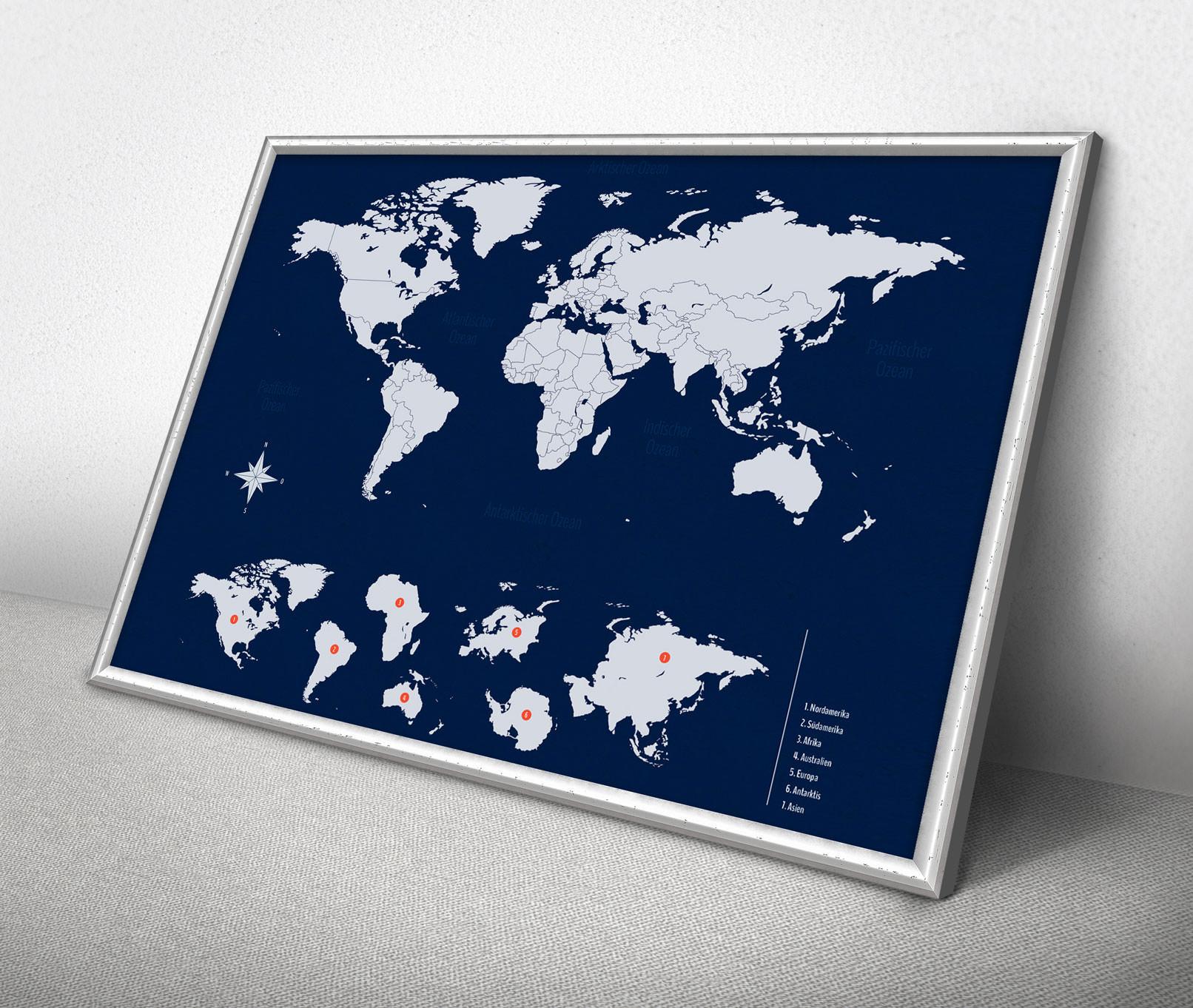 Landkarten der Welt als Grafiken zum Download