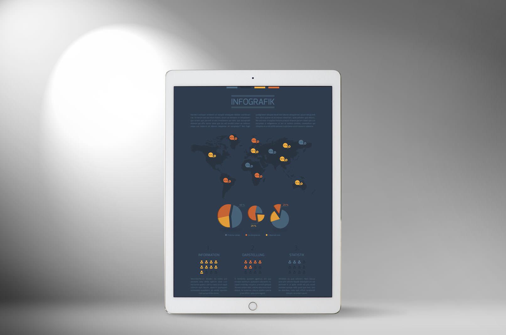 Spotlight-Bild mit Infografik