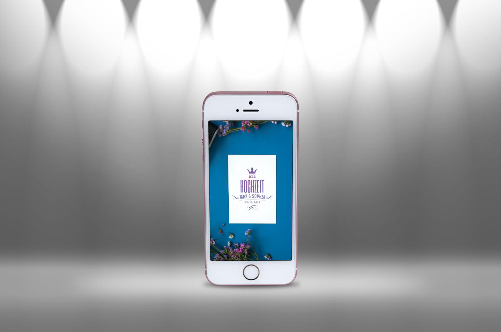 Spotlight-Bild mit Smartphone