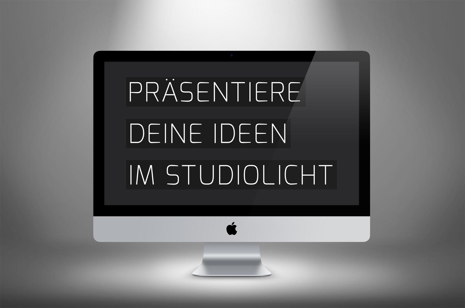Spotlight-Bild mit Monitor