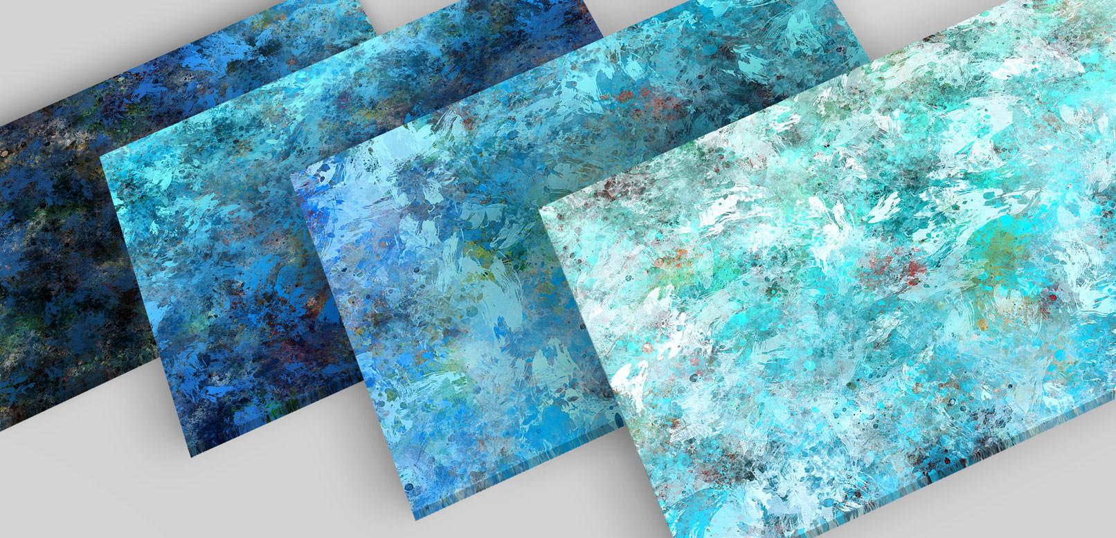 Bunte Hintergründe aus Ölfarben in Blau