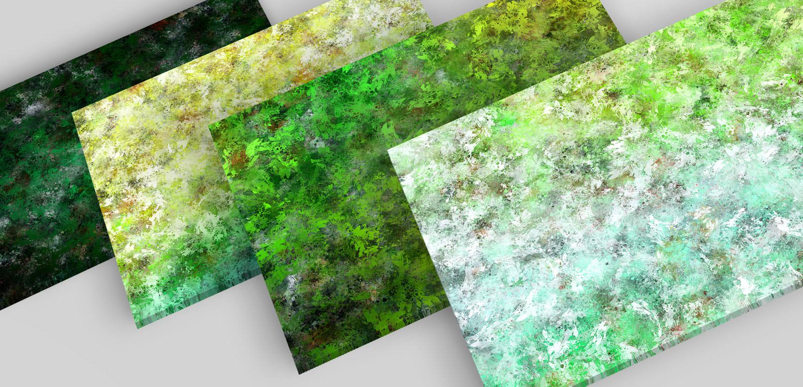 Bunte Hintergründe aus Ölfarben in Grün