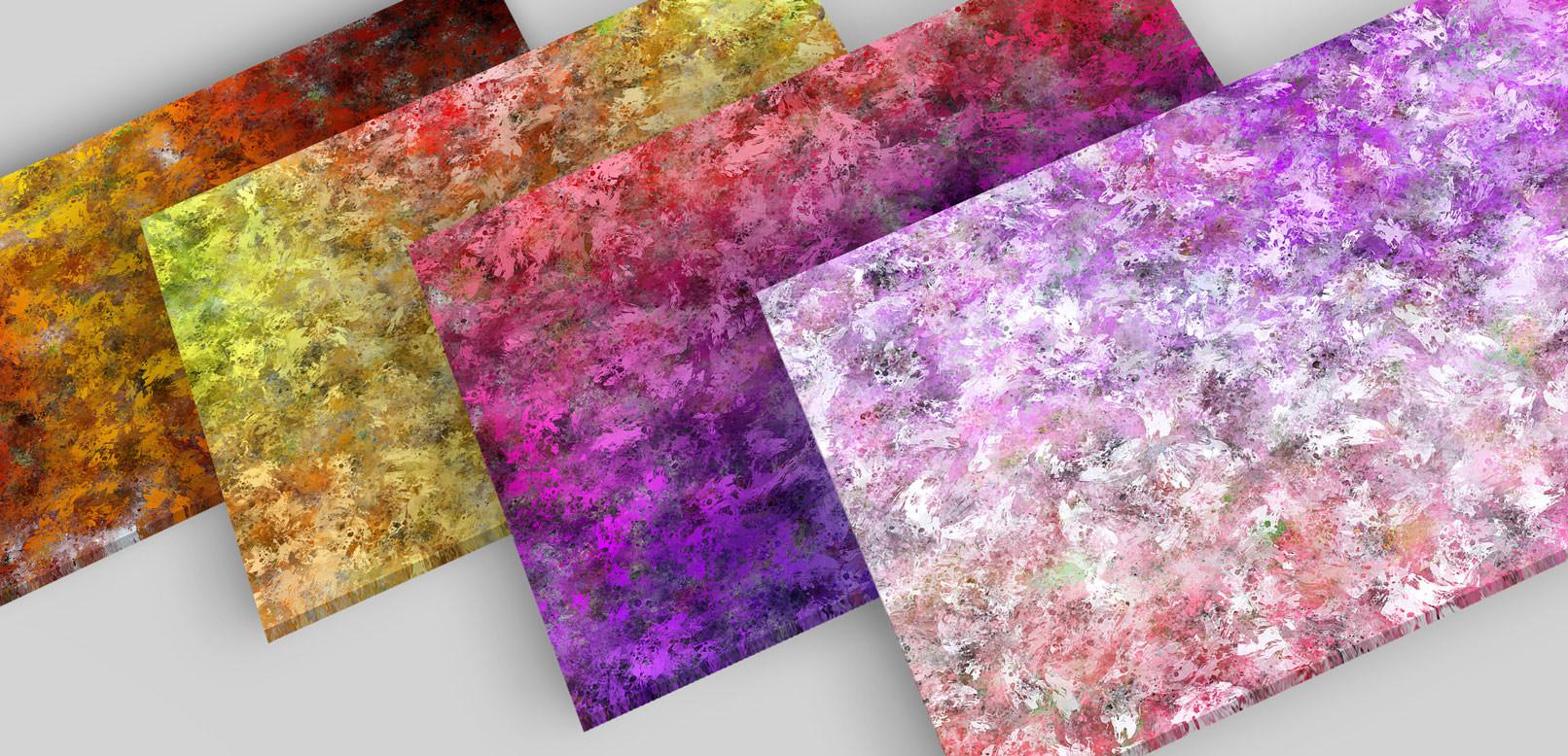 Bunte Hintergründe aus Ölfarben in verschiedenen Farben