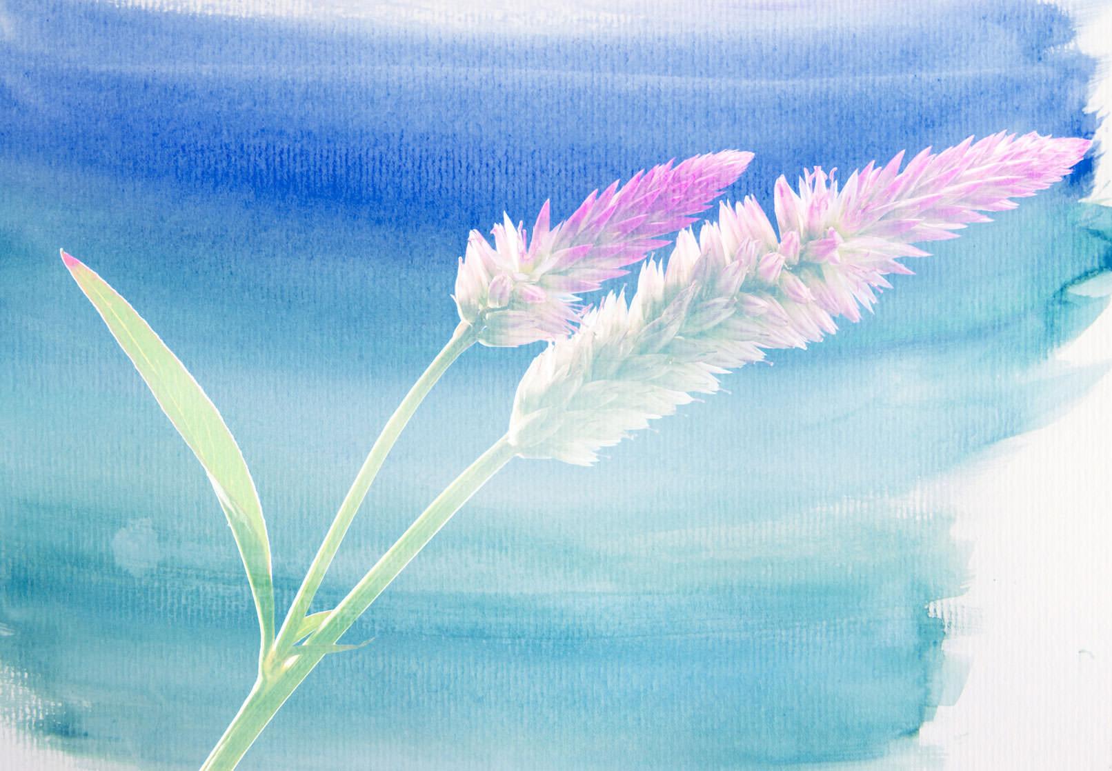 Wasserfarben-Bild mit Blume