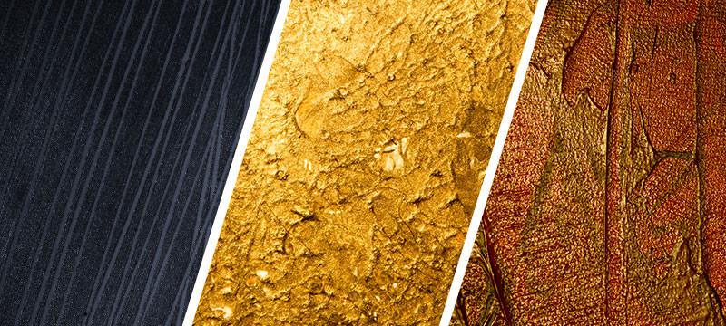 Hochaufgelöste Texturen: Acrylfarben und -lacke