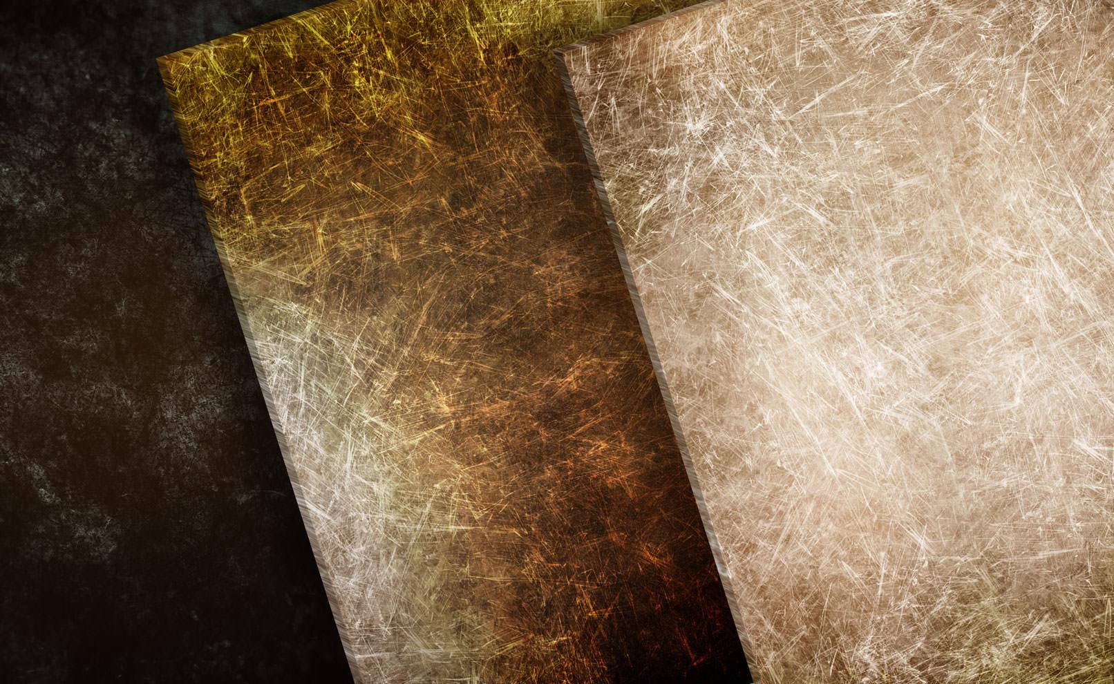 Hochaufgelöste Grunge-Texturen, zerkratzte Oberflächen