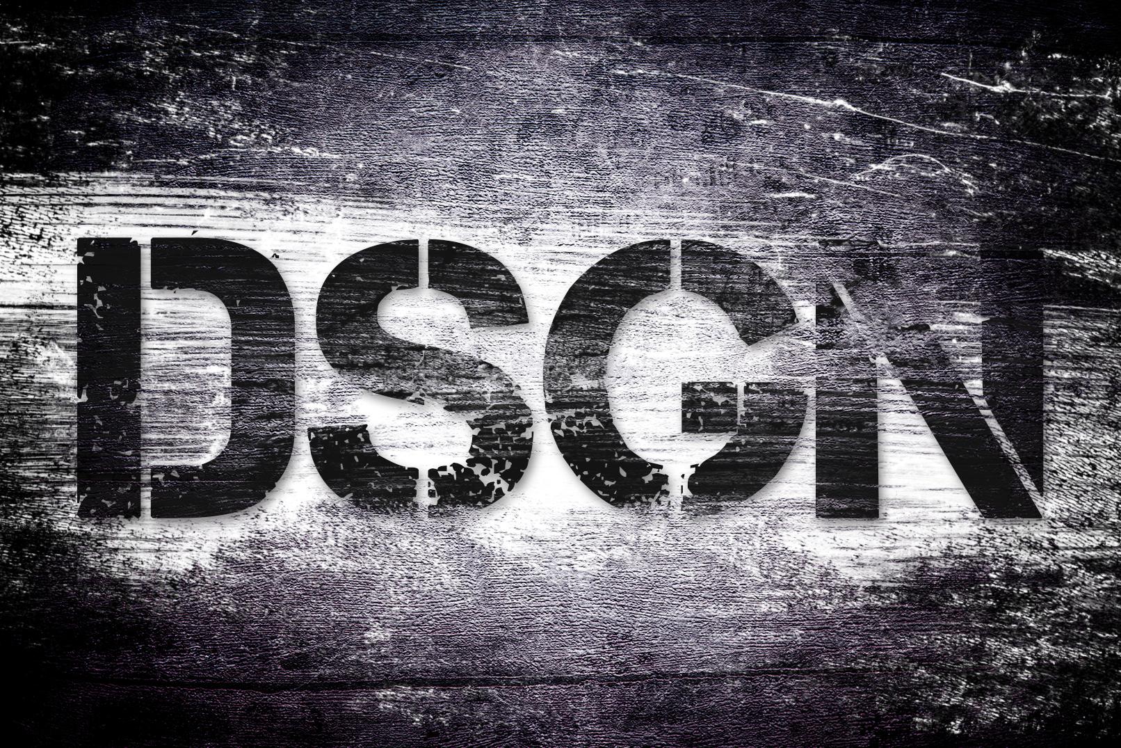 Schriftzug mit Grunge-Textur