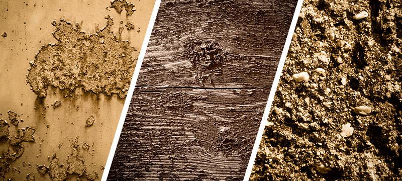 Hochaufgelöste Wand- und Mauertexturen in Braun