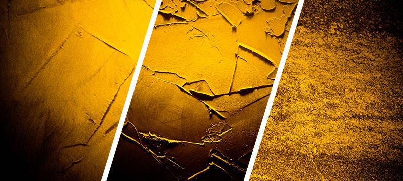 Hochaufgelöste Wand- und Mauertexturen in Gelb