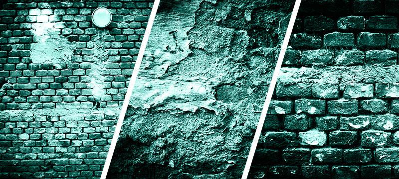 Hochaufgelöste Wand- und Mauertexturen in Grün