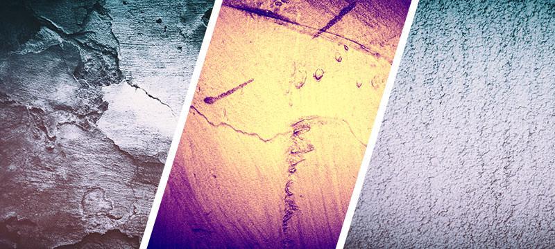 Hochaufgelöste Wand- und Mauertexturen mit Verlauf