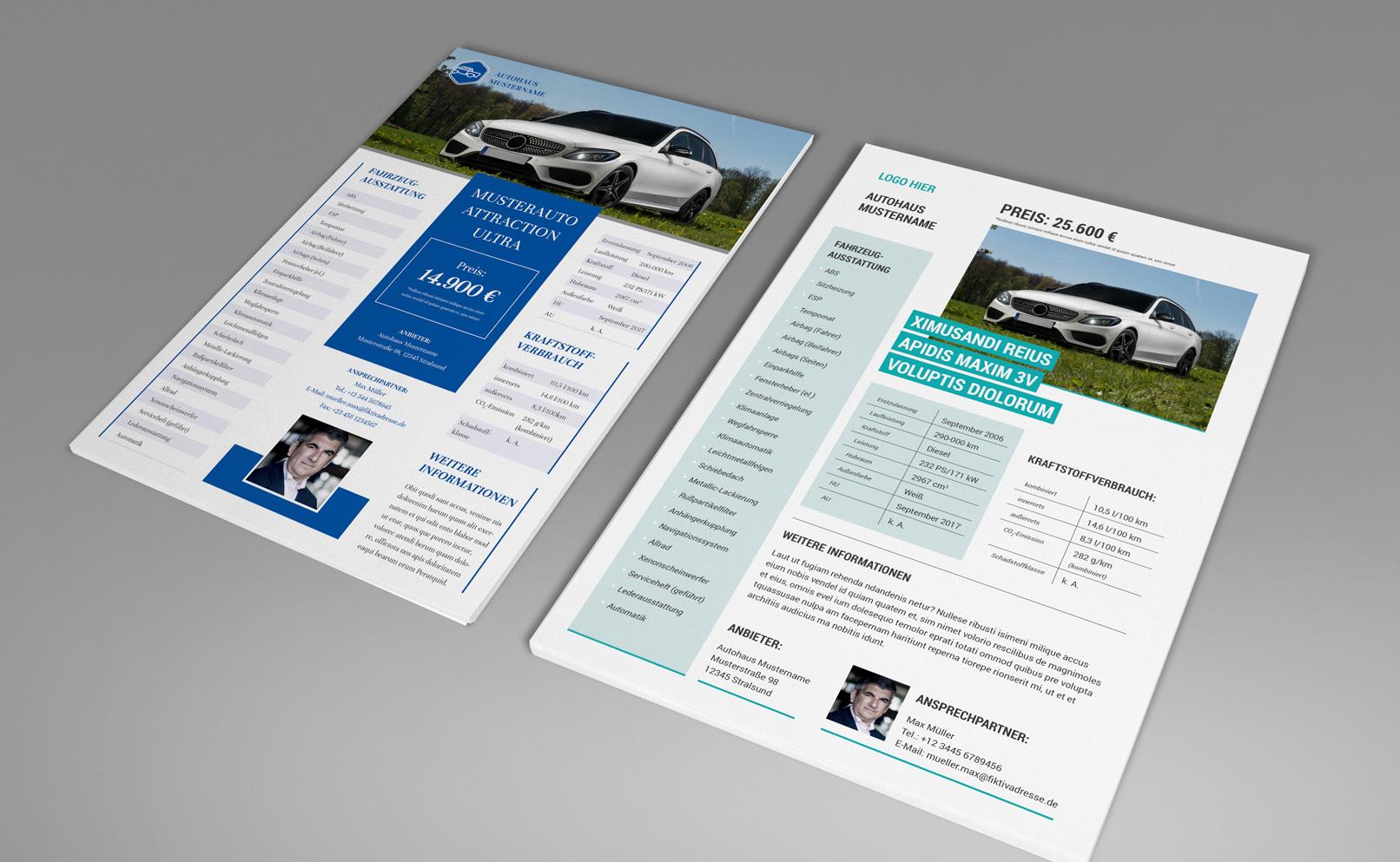 Auto-Exposés zum Autoverkauf