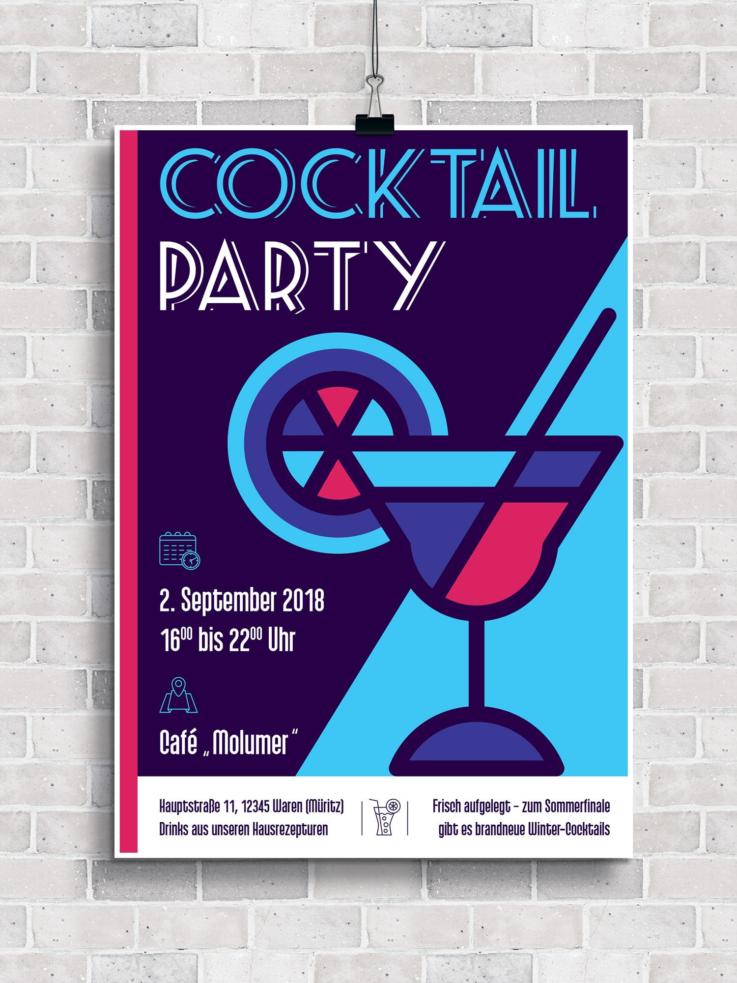 Design für einen Party-Flyer