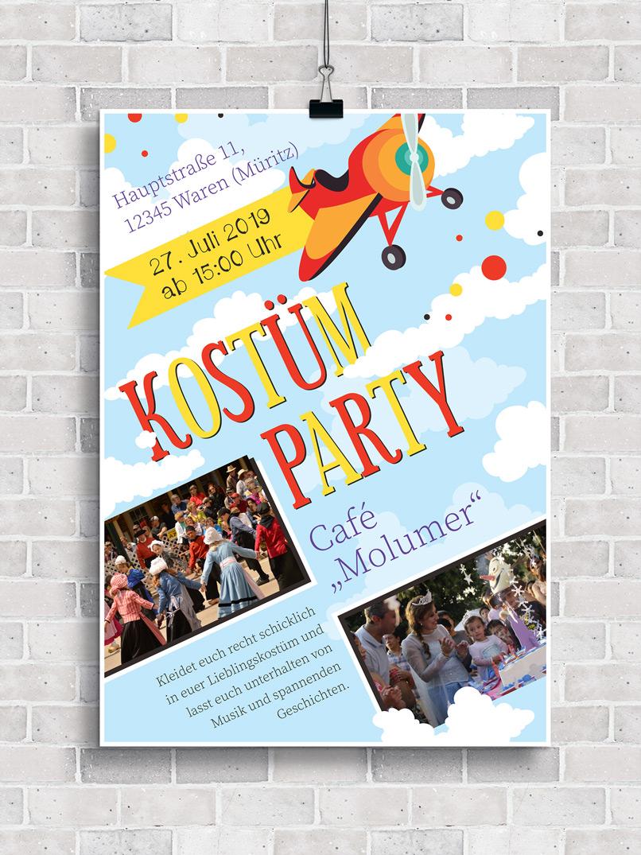 Plakat bzw. Flyer zur Einladung zu einem Kinderfest