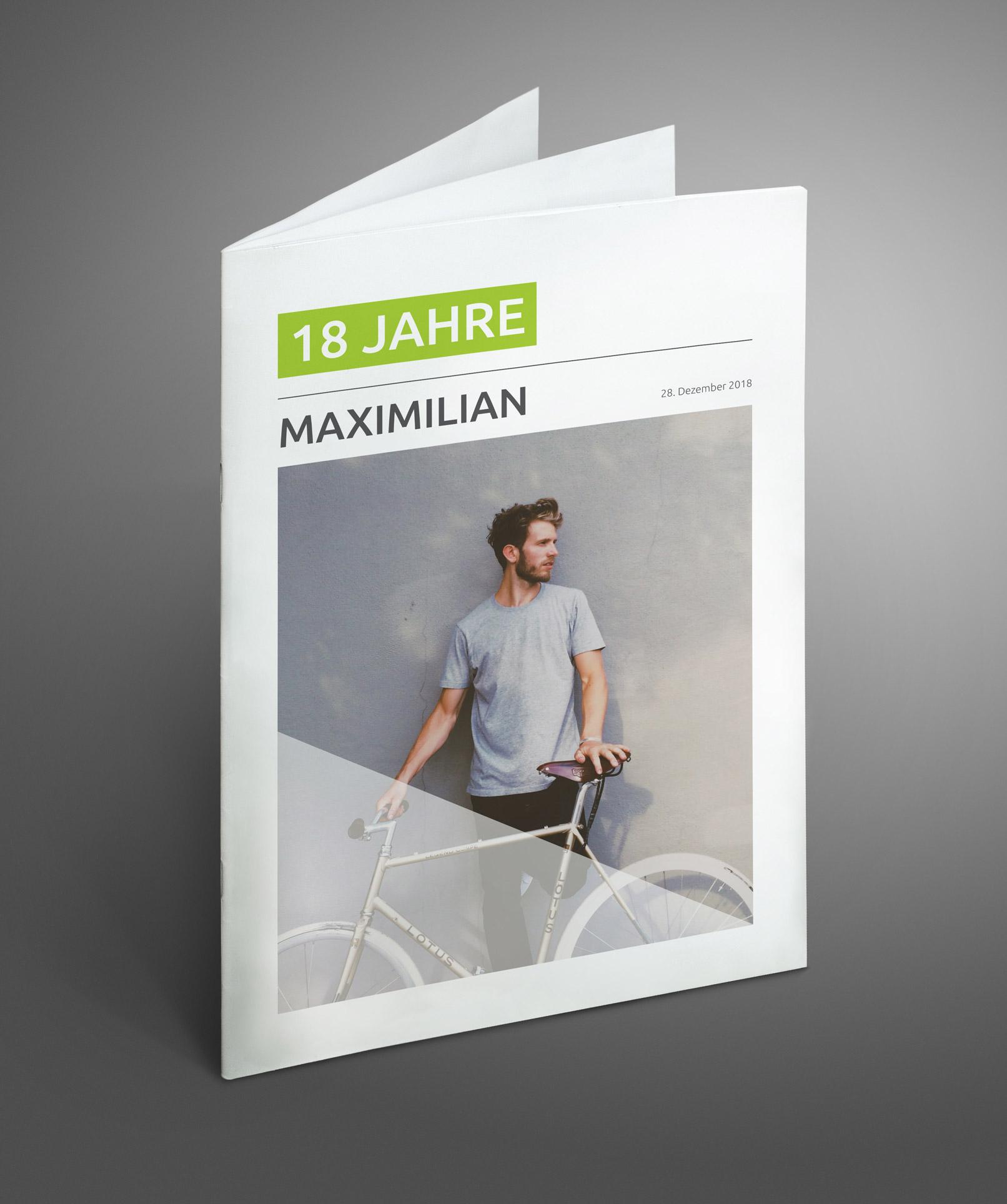 Cover der Vorlage für eine Geburtstagszeitung für Männer