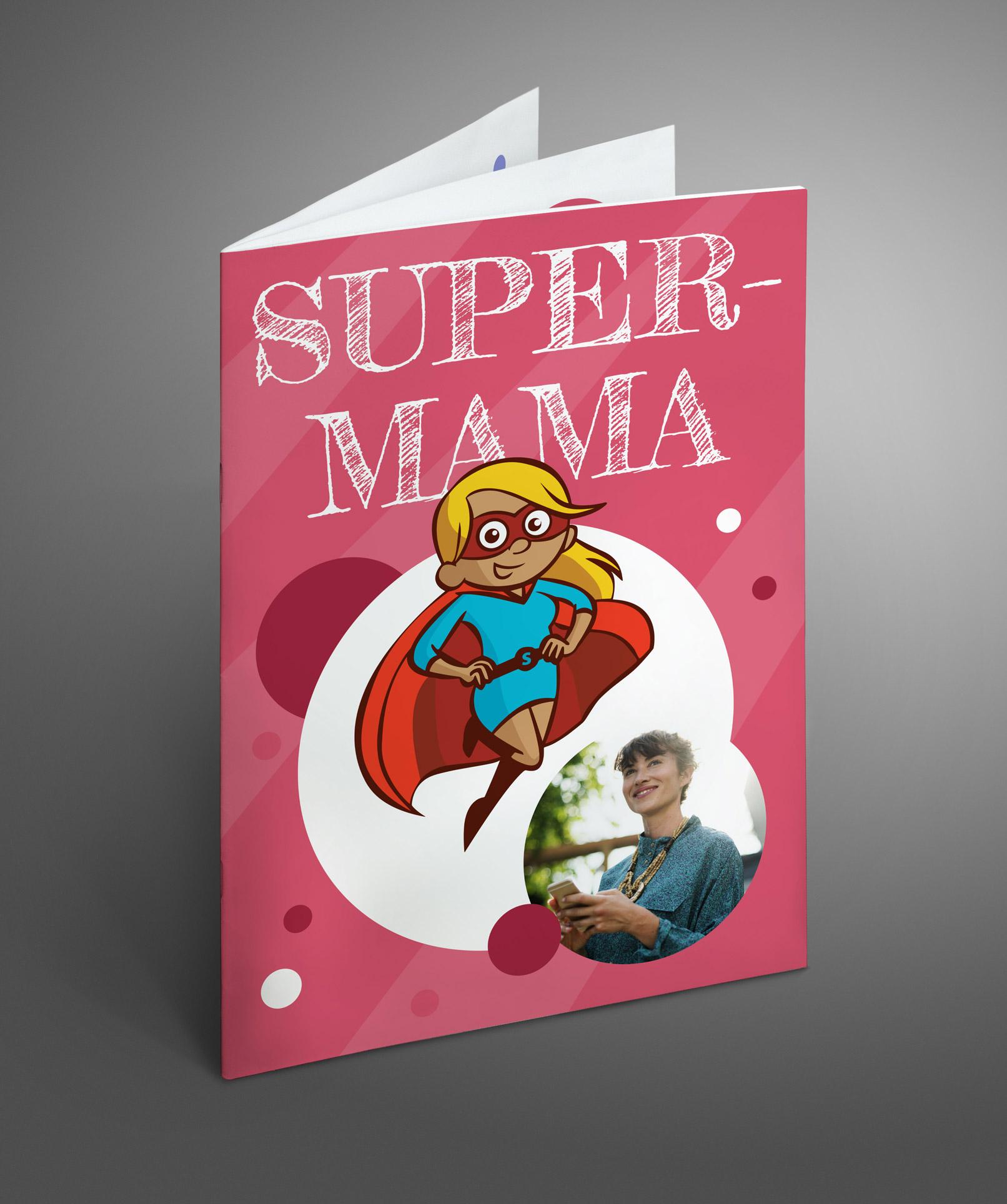 Cover einer Vorlage zum Gestalten einer Geburtstagszeitung für Frauen und Mütter