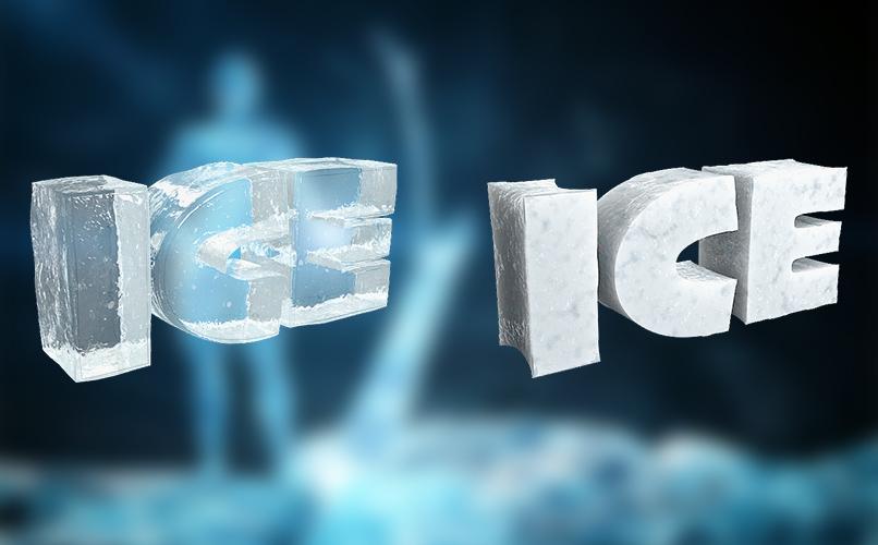 Texturen für Cinema 4D zur Darstellung von Eis