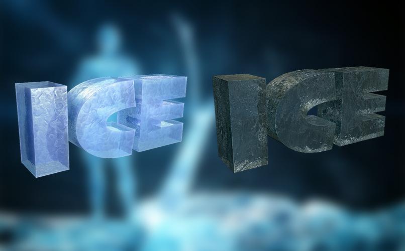 Prozedurale Texturen für Cinema 4D zur Darstellung von Eis