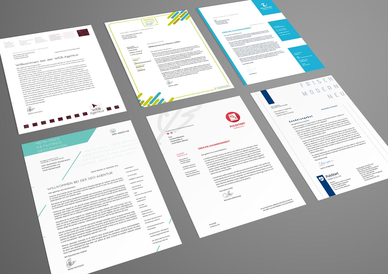 Briefpapier Vorlagen zum Download