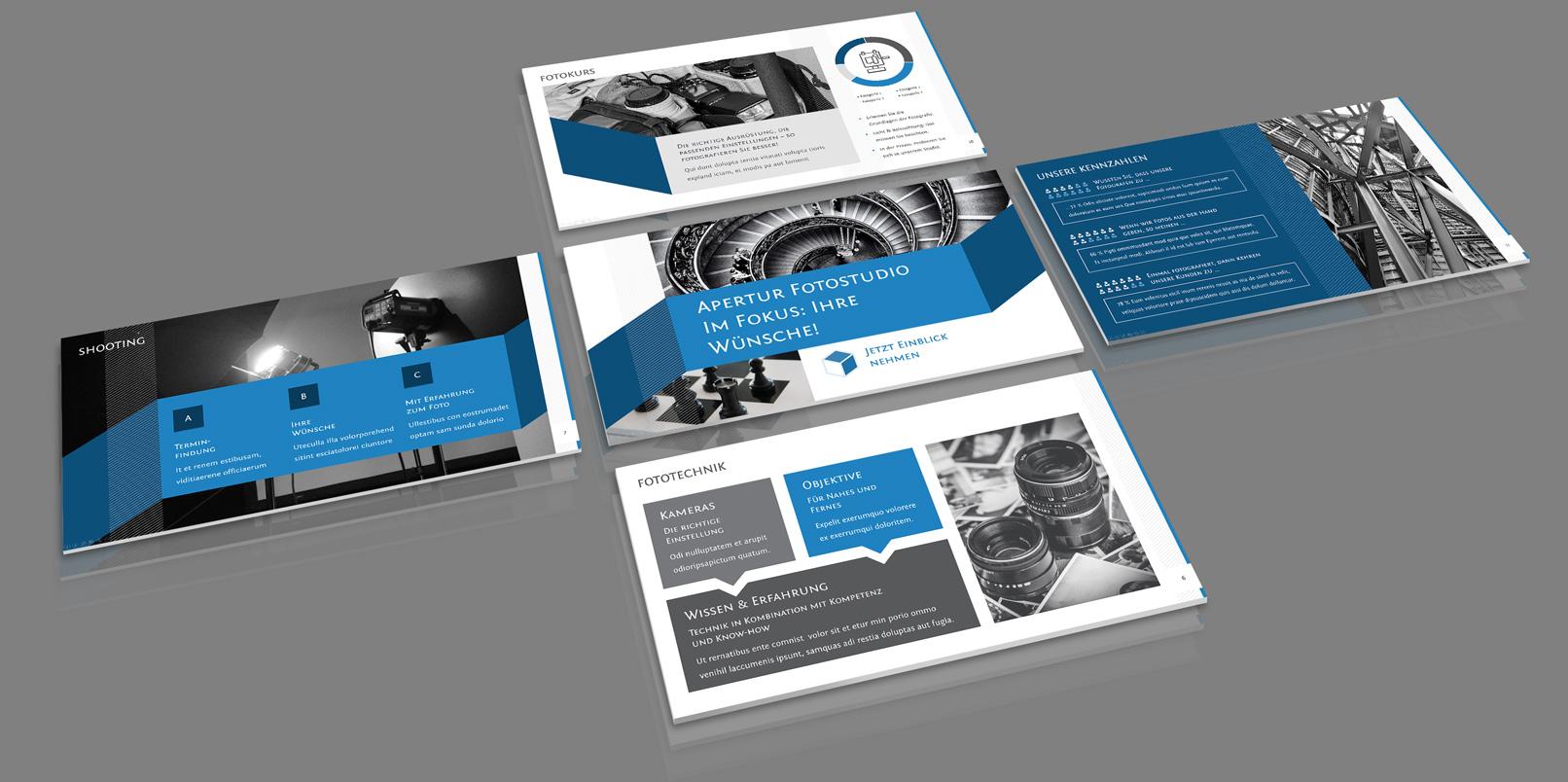 Präsentationsvorlagen für PowerPoint mit unterschiedlichen Folien-Layouts