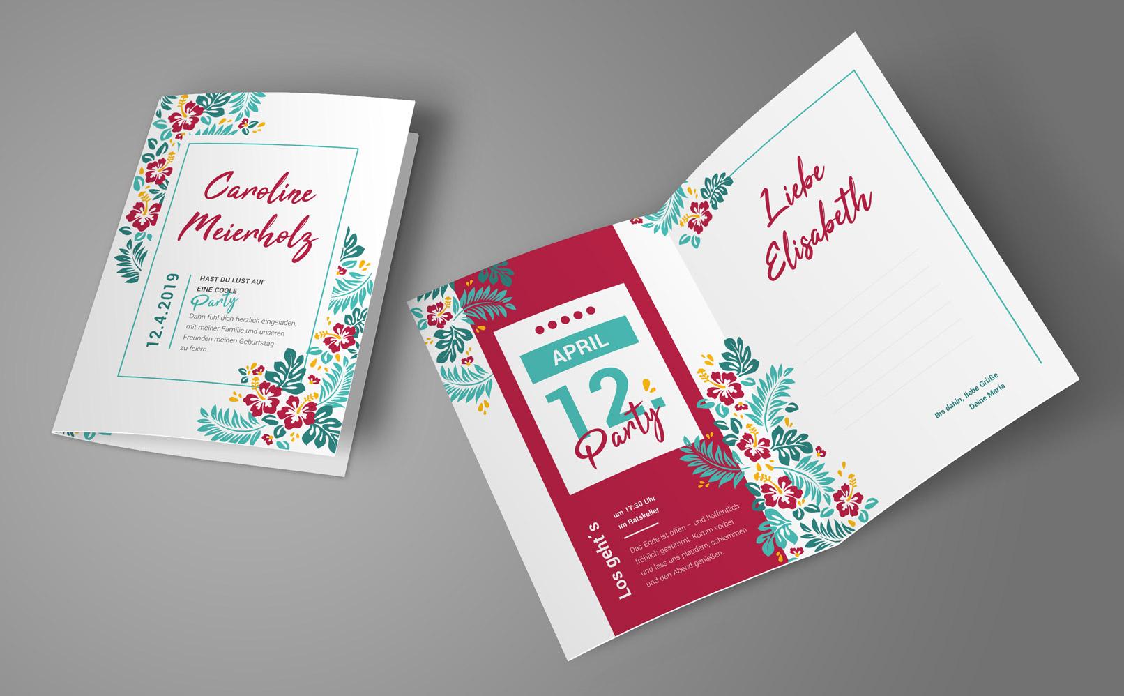 Einladungskarten Geburtstag Gestalten Einladungskarten: Geburtstagseinladungen Selbst Gestalten