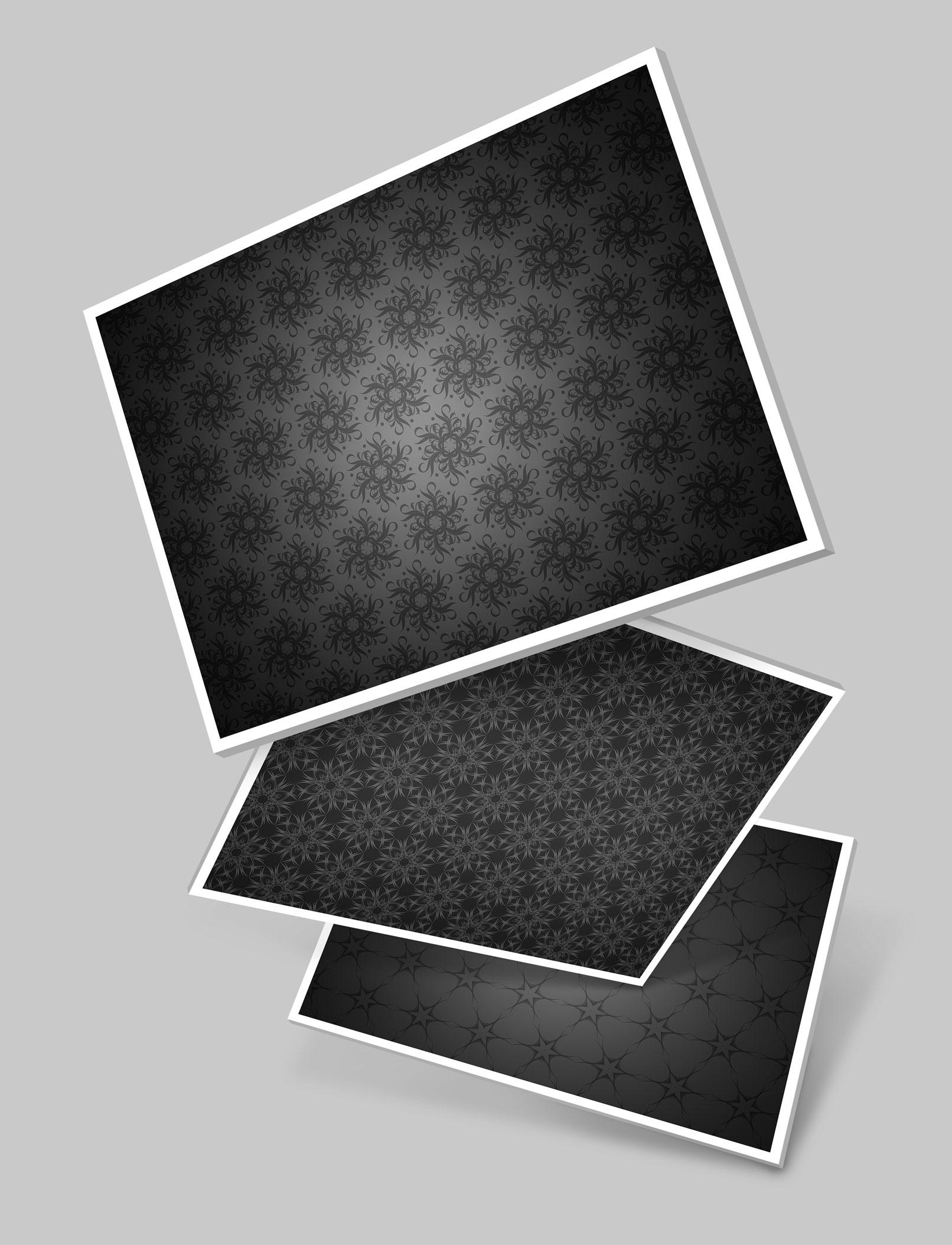 Schwarz-weiße Hintergründe mit Ornamenten