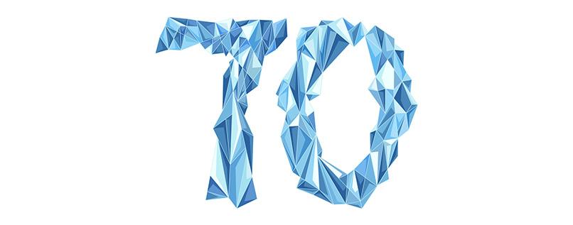 Zahlen-Vorlage (70) für Geburtstag & Jubiläum mit polygonalen Elementen