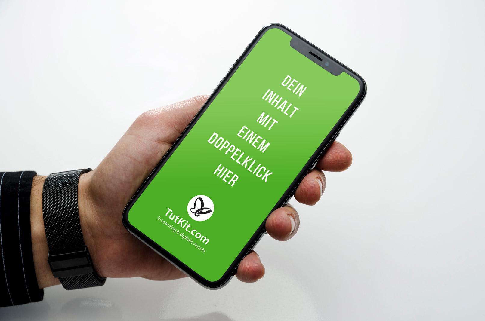 Mockup für Smartphone, Handy, iPhone X